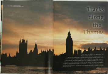 Westminster Big Ben sunset London River Thames England